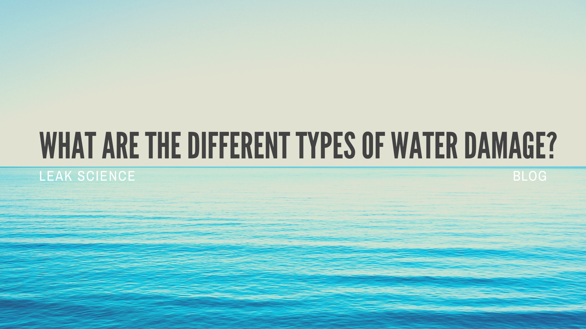 WHAT ARE THE DIFFERENT TYPES OF WATER DAMAGE