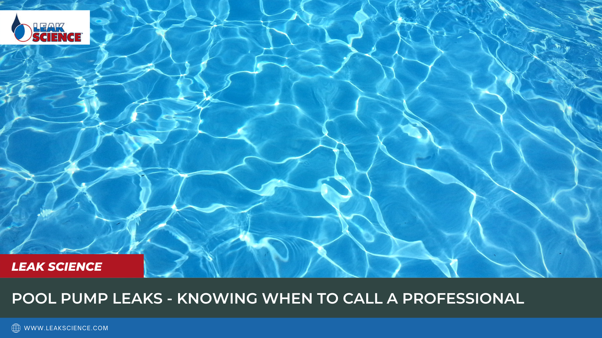 POOL PUMP LEAKS - KNOWING WHEN TO CALL A PROFESSIONAL