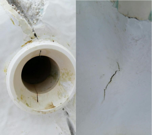 Siebert Cracked Wall Fitting & Crack in Pool Surface